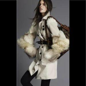 Burberry AW11 Classic Trench Lamb & Fox Fur Sleeve